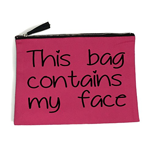This bag contains my face Make-Up Bag / Accessories case fun gift (Medium 16cm x 22cm, Hot Pink)