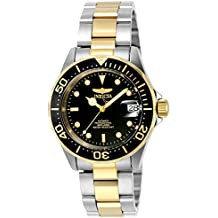 "Invicta INVICTA-8927 Reloj Automatico Unisex ""correa de acero inoxidable"" Negro/Plateado/Dorado"