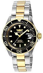 Invicta Pro Diver Unisex Analogue Classic Automatic Watch With Stainless Steel Gold Plated Bracelet – 8927