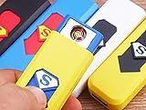 Szzrlc USB di ricarica accendino antivento ricaricabile USB senza fiamma camouflage accendino