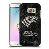 Officiel HBO Game Of Thrones Stark Symboles Affligés Sombres Étui Coque D'Arrière Rigide Pour Samsung Galaxy S7 edge