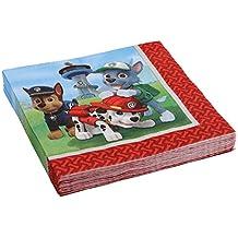 20 Servilletas papel La Patrulla Canina 33x33 cm