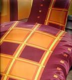 Sommer-, hauchdünne, kühlende Microfaser Bettwäsche in bordeaux/orange 135 cm x 200 cm