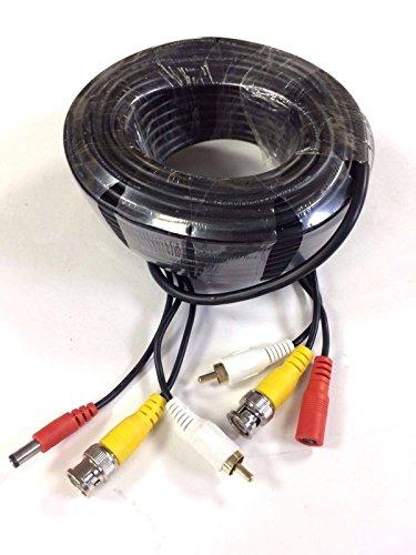 Preisvergleich Produktbild TECHVISION Sicherheit tvs-cable-30 m All-in-One Ready Made BNC Power Video und Audio-CCTV-Kabel,  Schwarz