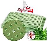 Venixsoft cuscino per letto in memory foam ortopedici anti cervicale , Anti Soffoco, Terapeutico, in linfa DI ALOE VERA rilassante e riposante. MASSIMA TRASPIRAZIONE-DISPOSITIVO MEDICO CLASSE I-Fodera cotone sfoderabile lavabile.mis72x42x13,8 prodotto mady in italy