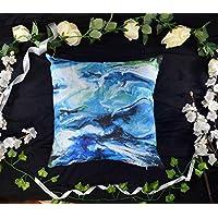 Abstract Art Cushion Cover - Coastal Blue Home Decor