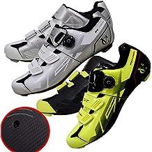 VeloChampion Zapatillas de Ciclismo (par) VCX con Planta de Fibra de Carbono White/