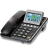 GAOLE Telefono con Filo, Telefono for Ufficio a casa, Telefono Fisso con segreteria telefonica, Telefono con Filo Linea Fissa con ID chiamante (Color : Black)