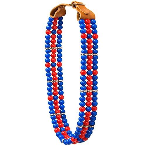 ARGY \'s Art Deko Halsband Perlen–Blau
