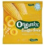 Organix Sweetcorn Rings 7 months+, 20g