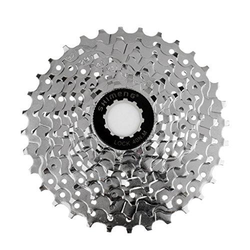 MagiDeal Fahrrad Freilauf Schraub Ritzel Zahn Kranz 9 fach, 11-12-14-16-18-21-24-28-32 Zähne