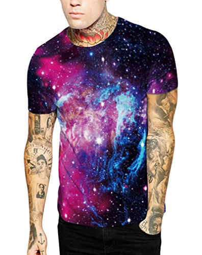 ... Pretty321 Women Girl Nature & Universe Galaxy Stars 3D Slim Fit T-shirt  Collection Blue ...