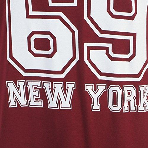 Chocolate Pickle ® Nouveau Mesdames surdimensionnés de Baggy de baseball de fac t-shirt Tops 40-54 69 Bulls Wine