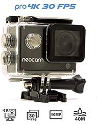 NEOCAM PRO - Caméra de sport 4K - Photo 16 MP - Ultra Haute définition - Marque Française - Écran LCD 2 pouces - Caisson étanche + 12 fixations offertes !