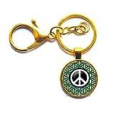 Llavero con símbolo de la paz y símbolo de la paz Y078