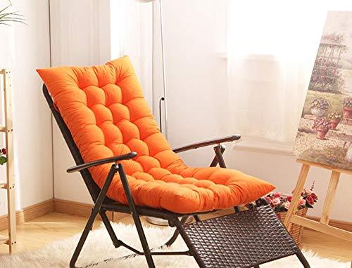 Honta Schaukelstuhl-Kissen, Sonnenliege, Dickes Stuhlpolster, rutschfeste Schaukelstuhl-Kissen, Lounge-Kissen (hellkaffee), Orange, 125x48x8cm