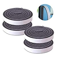 Thick Foam Tape, Seal Insulation Tape Adhesive and Window Insulation Weather Stripping for Doors, Waterproof, Dustproof, Soundproof 1.96 Inch Wide x 0.23 Inch Thick x 39.3 Inch Long 4pcs