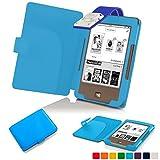 Forefront Cases® Tolino Page Shell Hülle Schutzhülle Tasche Bumper Folio Smart Case Cover Stand mit LED Licht - Leicht mit Rundum-Geräteschutz (HELL BLAU)