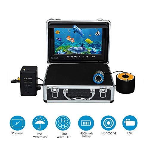 HUIJIN1 Fish Finder, Underwater Fishing Camera System Kit Video Recording Edition DVR 9
