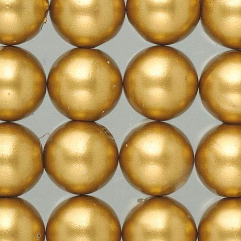 efco-Wachs Perlen, Kunststoff, Gold matt, 6mm Durchmesser, 60
