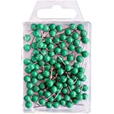 Wedo 56104 Markierungsnadeln Rundkopfnadeln, Nadellänge 16 mm, Kopfdurchmesser 6 mm, 100 Stück, grün