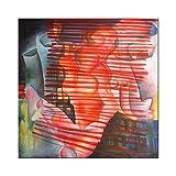 "Pintura Lienzo al Óleo Arte Abstracto Moderno ""PASIÓN Y DESEO"" por DOBOS, Cuadro Original para..."