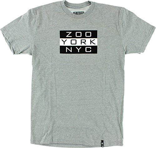 Zoo Kings Golden Era Flag Short Sleeve S-Heather Grey T-Shirt by Zoo York (Zoo York Skateboard T-shirt)