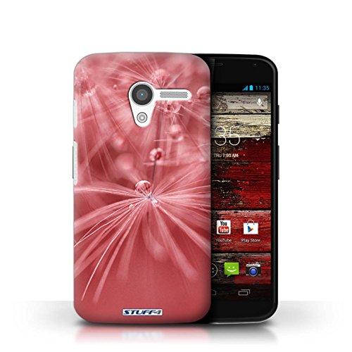 Kobalt® Imprimé Etui / Coque pour Motorola MOTO X / Fleur Violet conception / Série Gouttes de Fées Fleur Rouge