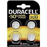 Duracell CR2032 /DL2032 Specialty Lithium-Knopfzelle 3V (entwickelt für die Verwendung in Schlüsselanhängern, Waagen, Wearables und medizinischen Geräten) 4er-Packung