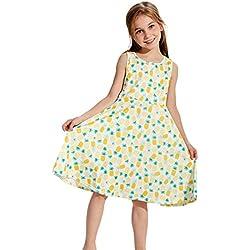 Chicolife niñas vestido vestidos de verano vacaciones piña Print Shift dress 7-10t sundress