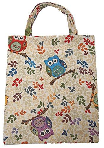 Bowatex Sac cabas sac pochette en tissu Shopper Bag poche de bistro Tapisserie royaltex Signare Chouettes FA