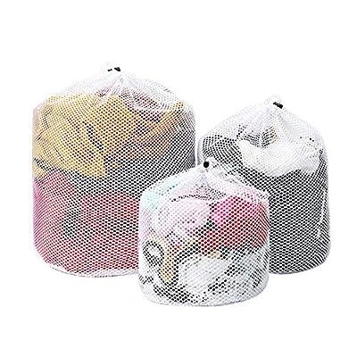 6 Pcs Drawstring Mesh Laundry Bags for Washing Machine,Reusable Laundry Net Washing Bag(3 Size)
