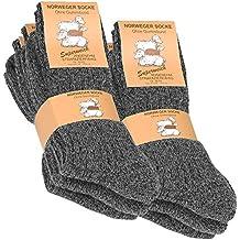 Vincent Creation® 6 pares de gruesa y cálida noruegos calcetines para hombre