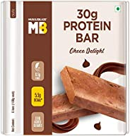 MuscleBlaze Protein Bar with Zero added sugar (30g Protein) (Chocolate Delight, Pack of 6), 100g each bar