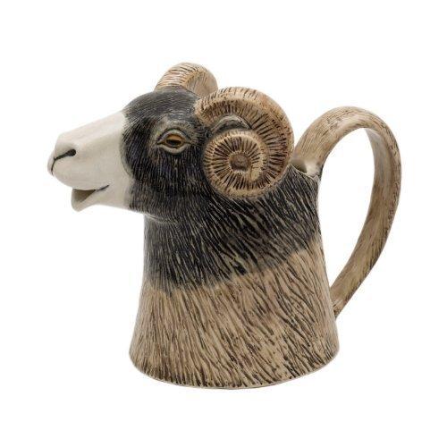 Quail Ceramics-Swaledale Ram testa del-Caraffa
