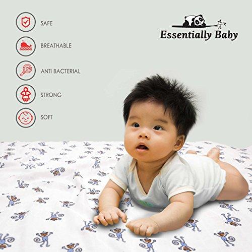 Bambus Baby Wickeldecke Receiving Decken–Super Weich und cool- Keep Safe mit natürliche antibakterielle atmungsaktiv Bambus Musselin. Einfach Care Spucktuch, Baby Dusche Geschenk (4xlarge- 119,4x 119,4cm)