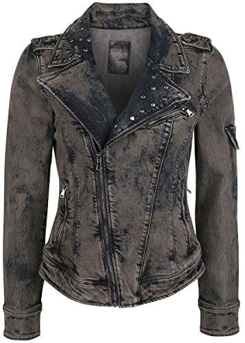 Rock Rebel by EMP Stone Washed Jeans Jacket Giacca di jeans donna grigio XL