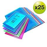 Rapesco cartelle a busta portadocumenti, trasparenti colorati, A5 (colori assortiti)