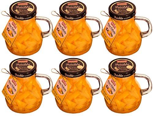 WERDER 6 x Pina Colada - Ananas mit Jamaika Rum Karaffe 500 g Alk. 14 % vol