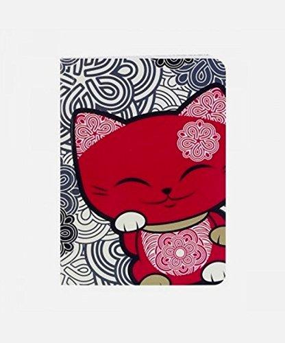 carnet-chat-porte-bonheur-mani-the-lucky-cat-gris-rouge