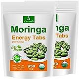 Moringa 500 Energy Tabs 950 mg, 100% naturel, pas de capsules (2x250 comprimés)