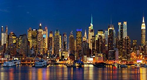 "Infrarotheizung Elegance - Glas rahmenlos mit Bild, 600 Watt, Motiv \""New York\"""