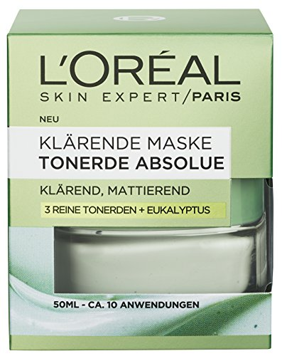L'Oréal Paris Tonerde Absolue Klärende Maske, 1er Pack (1 x 50 ml)