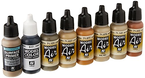Acrylicos Vallejo'Old & New Wood effects Model Air set