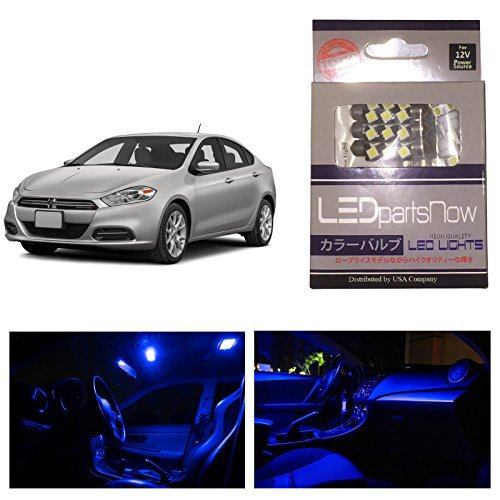 ledpartsnow-dodge-dart-2012-up-blue-premium-led-interior-lights-package-kit-6-pieces-by-ledpartsnow