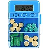 Mmyunx Intelligente Zeit Mahnung Pille Box 4 Grid Tragbaren Organisator Speicher Fall Wasserdicht Trockene Box preisvergleich bei billige-tabletten.eu