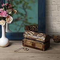 Store Indya, Handmade Mangowood decorativo Gioielleria bagagli Trinket Keepsake multiuso Box con albero della vita Sculture (Small)