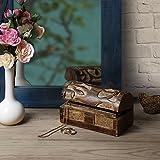 Store Indya, Hecho a mano Mangowood decorativo almacenaje de la joyeria de la baratija cajas de joyas de usos multiples con el arbol de las tallas de la Vida (Pequeno) - Store Indya - amazon.es