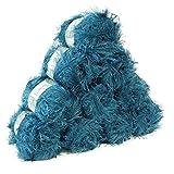maDDma ® 10 x 50g Effektgarn Fransen-Wolle LEA Fransen-Strickgarn Strickwolle, tolle Farben, Farbe:blau