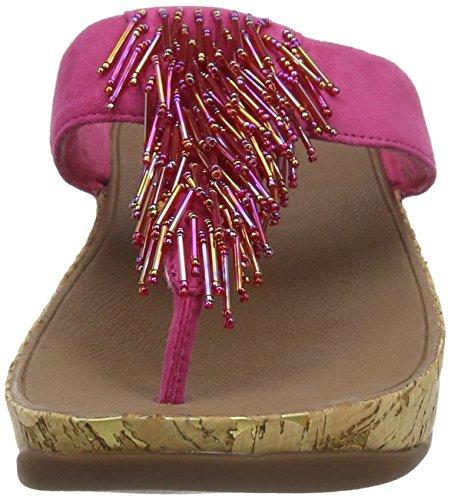 FitFlop Cha Cha, Sandales Bout ouvert Femme Pink (Bubblegum)